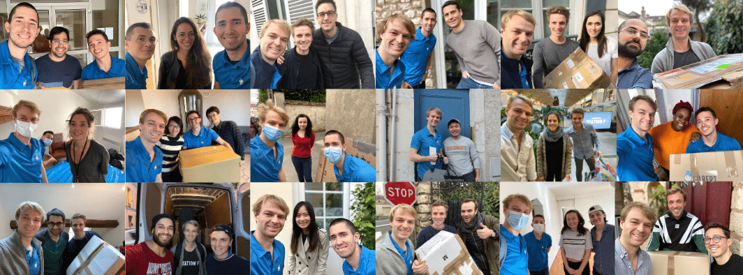 Mosaïque selfies clients